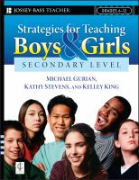 Strategies for Teaching Boys and Girls, Secondary Level