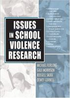 Issues in School Violence Research