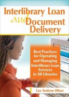 Interlibrary Loan and Document Delivery