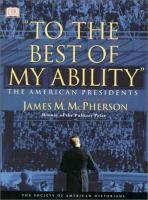 """""""To the Best of My Ability"""""""