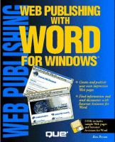 Web Publishing With Word For Windows