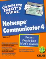 The Complete Idiot's Guide to Netscape Communicator 4