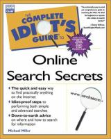 Complete Idiot's Guide to Online Search Secrets