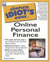 Complete Idiot's Guide to Online Personal Finance