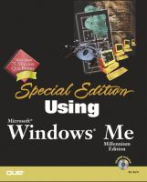 Special Edition Using Microsoft Windows Millennium Edition
