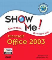 Show Me Microsoft Office 2003