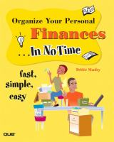 Organize your Personal Finances-- in No Time