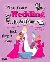 Plan your Wedding-- in No Time