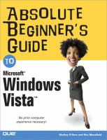 Absolute Beginner's Guide To Microsoft Windows Vista
