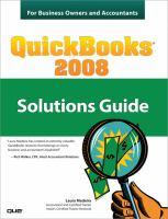 QuickBooks 2008 Solutions Guide
