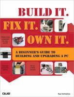 Build It, Fix It, Own It