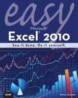 Easy Microsoft Excel 2010