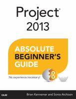 Project 2013 : absolute beginner's guide