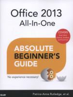 Office 2013 All-in-one Absolute Beginner's Guide