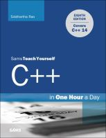 Sams Teach Yourself C++ in One Hour A Day