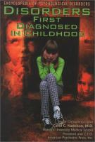 Disorders First Diagnosed in Childhood
