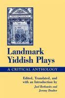 Landmark Yiddish Plays