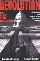 Devolution and Black State Legislators