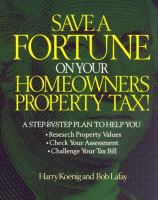 Save A Fortune on your Homeowners Property Tax!