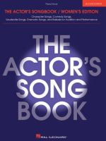 The Actor's Songbook. Women's Edition