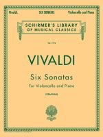 Six sonatas for violoncello and piano