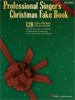 Professional Singer's Christmas Fake Book