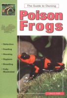 Keeping Poison Frogs
