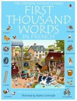 The Usborne Internet-linked first thousand words in French