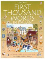 The Usborne Internet-linked First Thousand Words in Italian