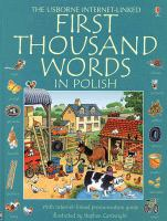 The Usborne internet-linked first thousand words in Polish