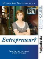 Could You Succeed as An Entrepreneur?