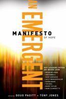 An Emergent Manifesto of Hope