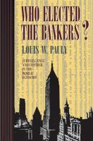 Who Elected the Bankers?