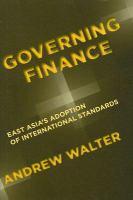 Governing Finance