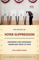 The Politics of Voter Suppression