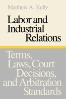 Labor and Industrial Relations