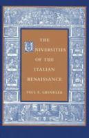 The Universities of the Italian Renaissance