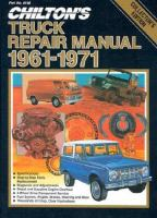 Chilton's Truck Repair Manual 1961-71
