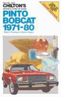 Chilton's Repair & Tune-up Guide Pinto, Bobcat 1971-80