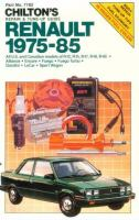 Chilton's Repair & Tune-up Guide, Renault 1975 - 85