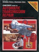Chilton's Guide to Automatic Transmission Repair