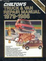 Chilton's Truck and Van Repair Manual, 1979-1986