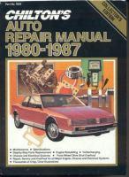Chilton's Auto Repair Manual, 1980-1987