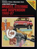 Chilton's Guide to Brakes, Steering, and Suspension, 1980-87