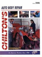 Chilton's Guide to Auto Body Repair