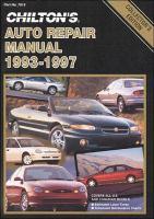 Chilton's Auto Repair Manual, 1993-97