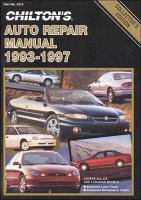 Chilton's Auto Repair Manual 1993-97