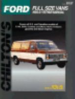 Chilton's Ford Full Size Vans 1989-91 Repair Manual