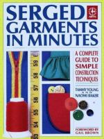 Serged Garments In Minutes