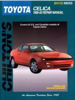 Chilton's Toyota Celica 1986-93 Repair Manual